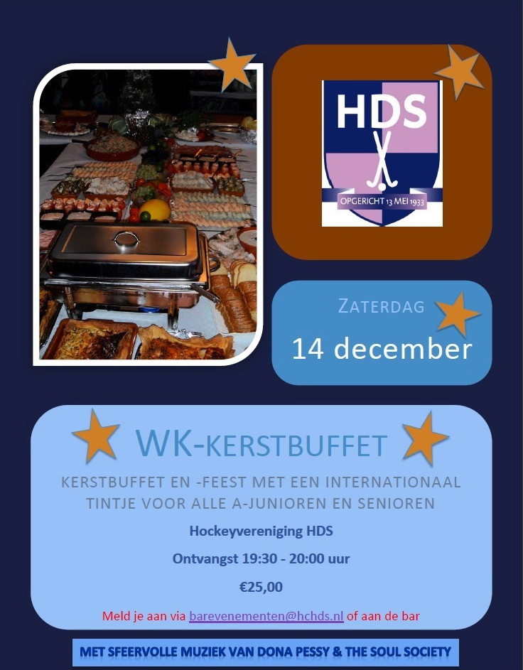 WK-Kerstdiner 14 december